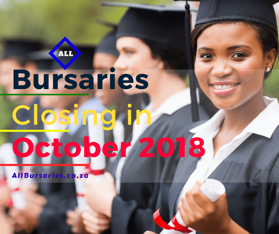 Bursaries Closing in October 2018